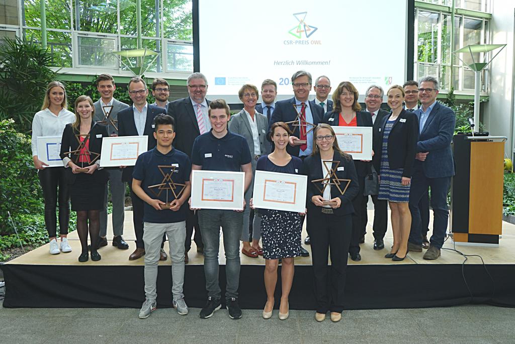 Verleihung des CSR-Preises OWL - Initiative für Beschäftigung OWL e. V.