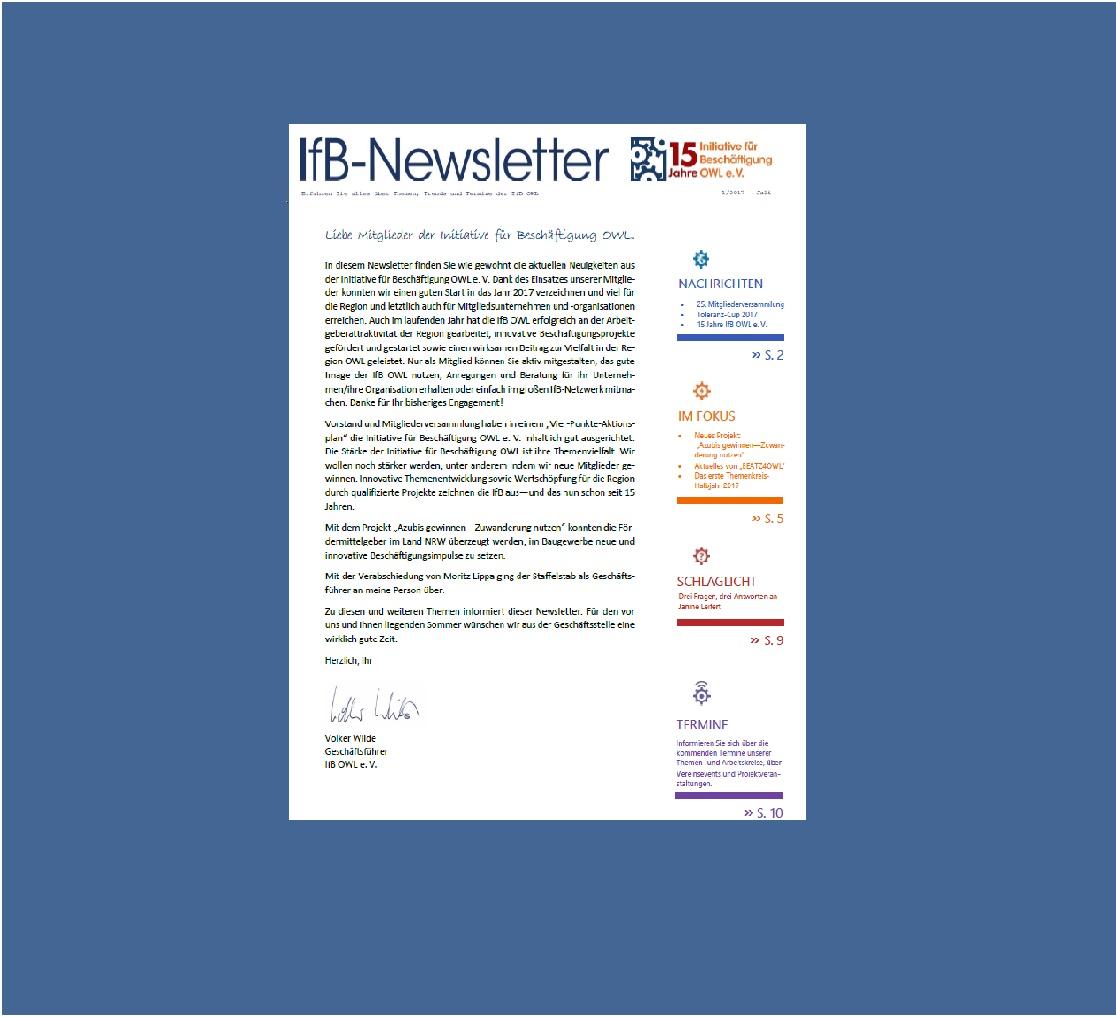 IfB-Newsletter 07-17