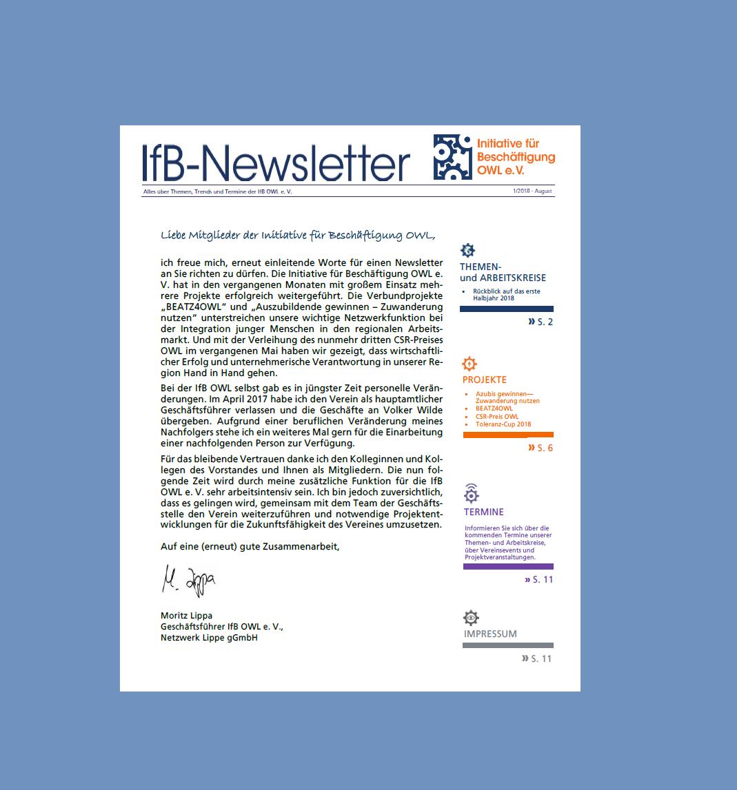 IfB-Newsletter 08-18