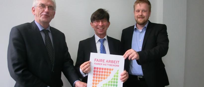 "Wanderausstellung ""Faire Arbeit – Fairer Wettbewerb"" beim Netzwerk Lippe"